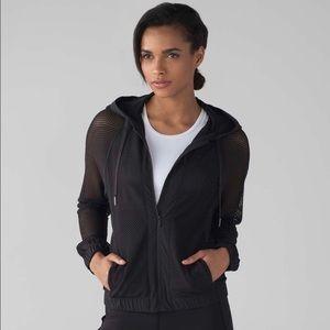 Lululemon mesh on mesh black jacket